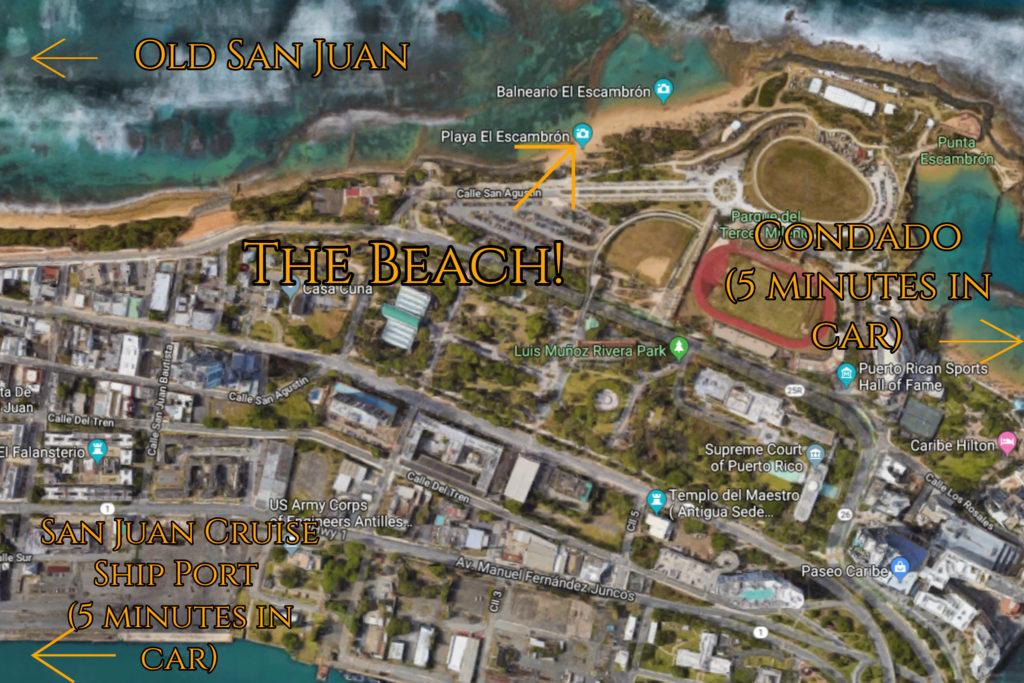 map to el escambron for weddings