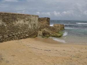 ruins on playa pena beach for a wedding