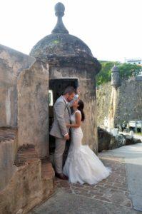 wedding photos at el morro in old san juan