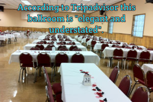 wedding reception in hotel ballroom